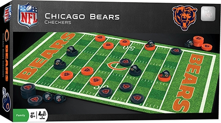 Learning: Play Active Play Active Games - 41444 - Chicago Bears Checkers 41444