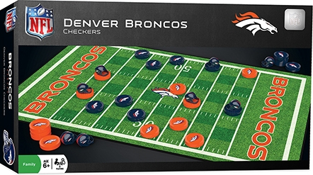 Learning: Play Active Play Active Games - 41446 - Denver Broncos Checkers 41446