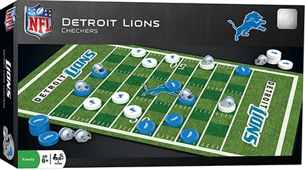 Learning: Play Active Play Active Games - 41536 - Detroit Lions Checkers 41536