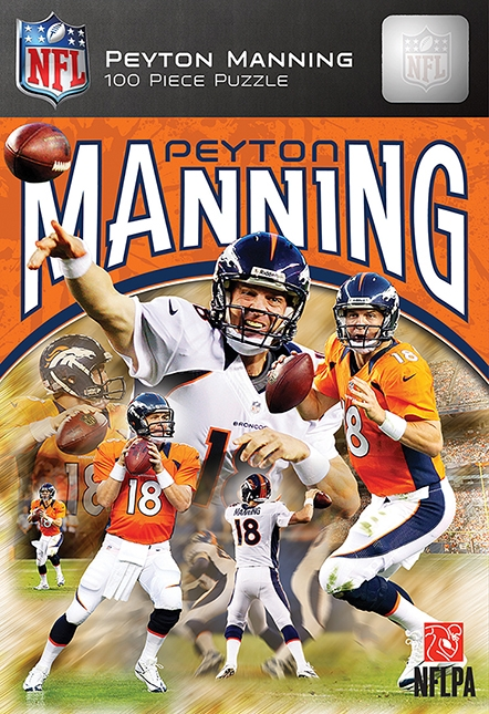 Peyton Manning Denver 100pc Box - 91506 - Wooden & Pegged Puzzles Daily Deals Clearance 91506