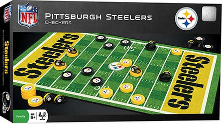 Learning: Play Active Play Active Games - 41453 - Pittsburgh Steelers Checkers 41453