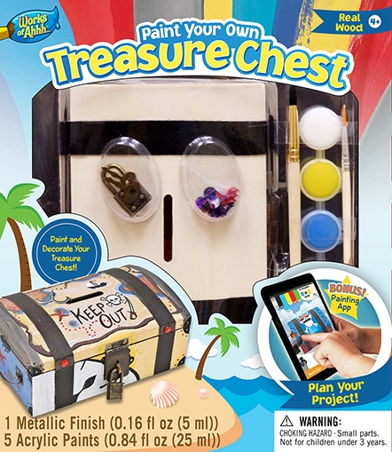 Learning: Classroom Arts & Crafts Crafts Paper Crafts - 21412 - Treasure Chest 21412