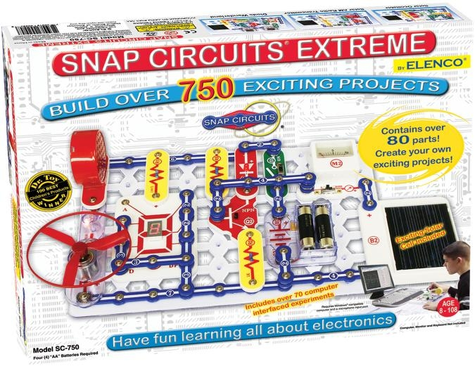 Snap Circuits Extreme 750 Experiments - Sc750 - Pretend Play Electronics SC750