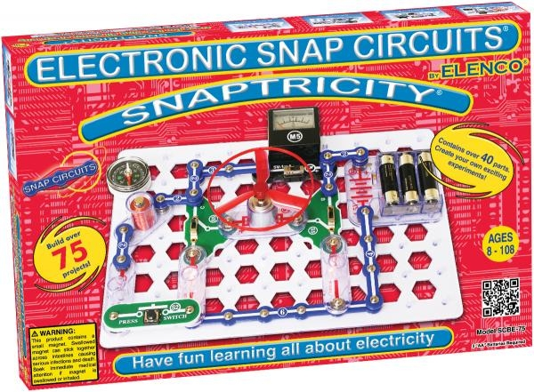Snaptricity - Scbe75 - Pretend Play Electronics Snap Circuits Educational Kits SCBE75