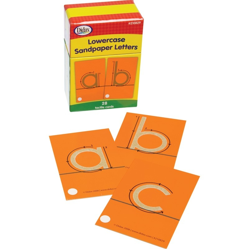 Learning: Supplies Bulletin Boards & Letter Boards Letter Boards & Directory Boards - 210829 - Sandpaper Letters; Lowercase 210829