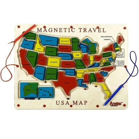 Magnetic Travel Usa Map - Um2007 - Toys Magnetic Apple Maze Play Board Magnetic Builders UM2007