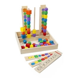 Learning: Classroom Math Sorting Activities & Sorting Trays - 570 - Bead Sequencing Set Classic Toy 570
