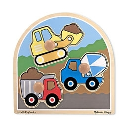 Preschool Play: Infant Toddler Resources For Infants & Toddlers - 3395 - Construction Site Jumbo Knob Puzzle - 3 Pieces 3395
