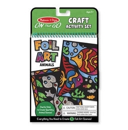 Learning: Classroom Arts & Crafts Crafts Paper Crafts - 9421 - On-the-go Crafts - Foil Art Animals 9421