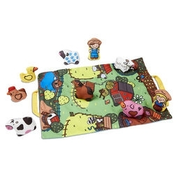Learning: Supplies Books & Literature Early Readers Read Alongs - 9216 - Take-along Farm Play Mat 9216