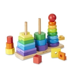 Learning: Classroom Math Sorting Activities & Sorting Trays - 567 - Geometric Stacker Toddler Toy 567
