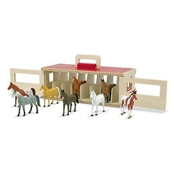 Learning: Supplies Drafting & Art Furniture Art Horses & Bench Easels - 3744 - Take-along Show-horse Stable Play Set 3744