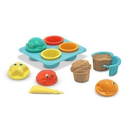 Learning: Play Active Play Active Games - 6431 - Seaside Sidekicks Sand Cupcake Set 6431