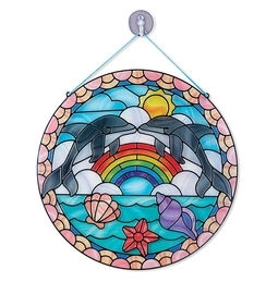 Learning: Classroom Arts & Crafts Glue & Adhesives Special Adhesives - 9291 - Stained Glass Made Easy - Dolphins 9291
