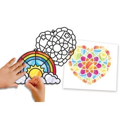 Learning: Classroom Arts & Crafts Crafts Paper Crafts - 9294 - Stained Glass Made Easy - Rainbow & Hearts Ornaments 9294