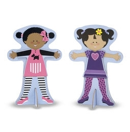 Learning: Play Preschool Pretend Play Dress Up & Accessories - 4943 - Tops And Tights Magnetic Dress-up 4943