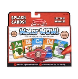 Sports & Fitness Physical Education & Sport Team Building Activities & Equipment Learning Games & Skill Games - 5236 - Water Wow! Alphabet Cards - On The Go Travel Activity 5236