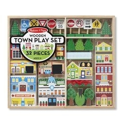 Learning: Play Blocks Vehicles - 4796 - Wooden Town Play Set 4796