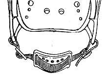 Safety Hard Hats Headgear - 7646 - 7646 Chin Cup (for 9825) 7646