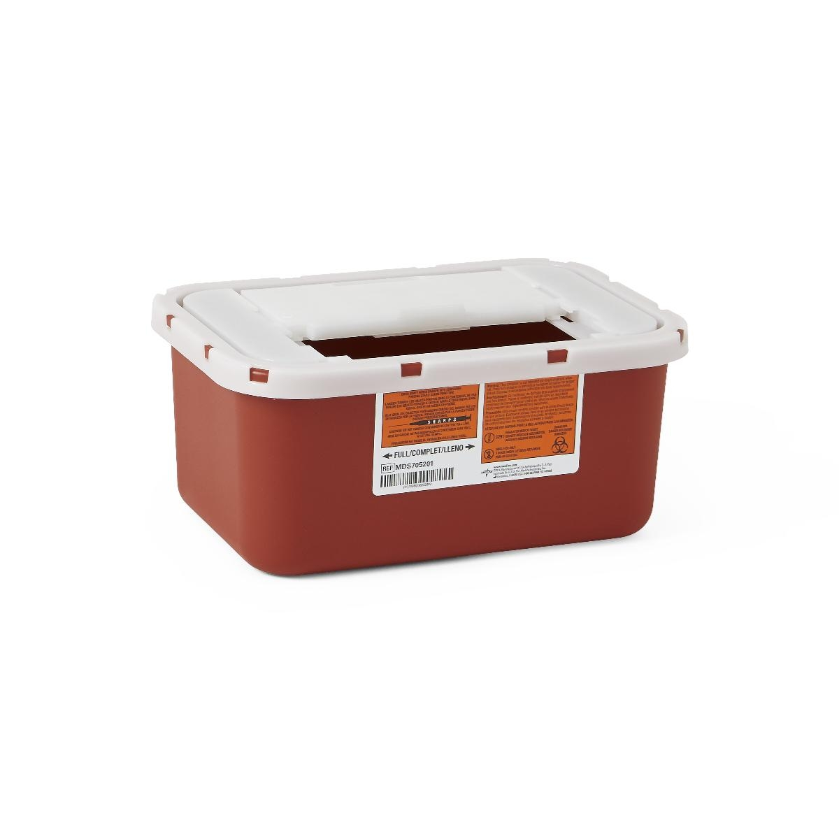 Nursing Supplies & Patient Care Sharps Containers - Mds705201 - Container Sharps 1 Ga. Red Wall/free MDS705201