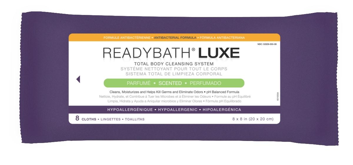 Nursing Supplies & Patient Care Skin Care Cleansers Wipes - Msc095100 - Readybath Luxe Antibac Scented 8/pk MSC095100