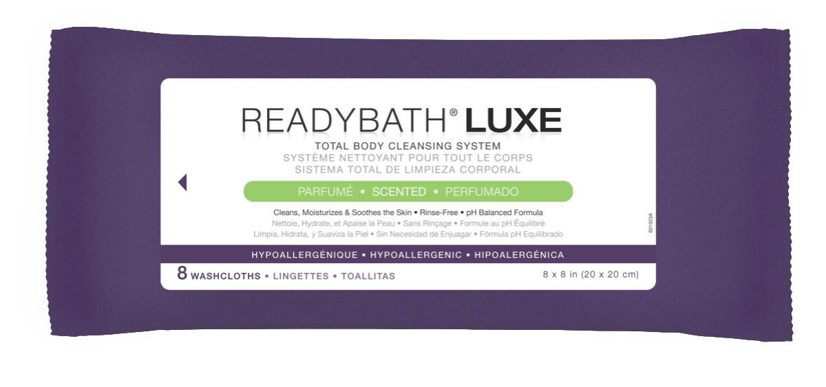 Nursing Supplies & Patient Care Skin Care Cleansers Wipes - Msc095102 - Readybath Luxe Scented 8/pk MSC095102