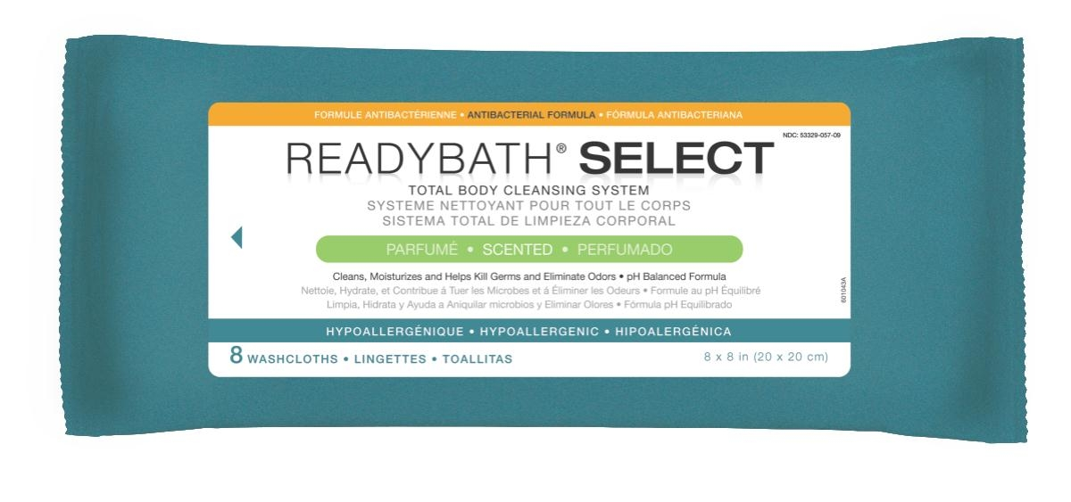 Nursing Supplies & Patient Care Skin Care Cleansers Wipes - Msc095104 - Readybath Select Antibac Scented 8/p MSC095104