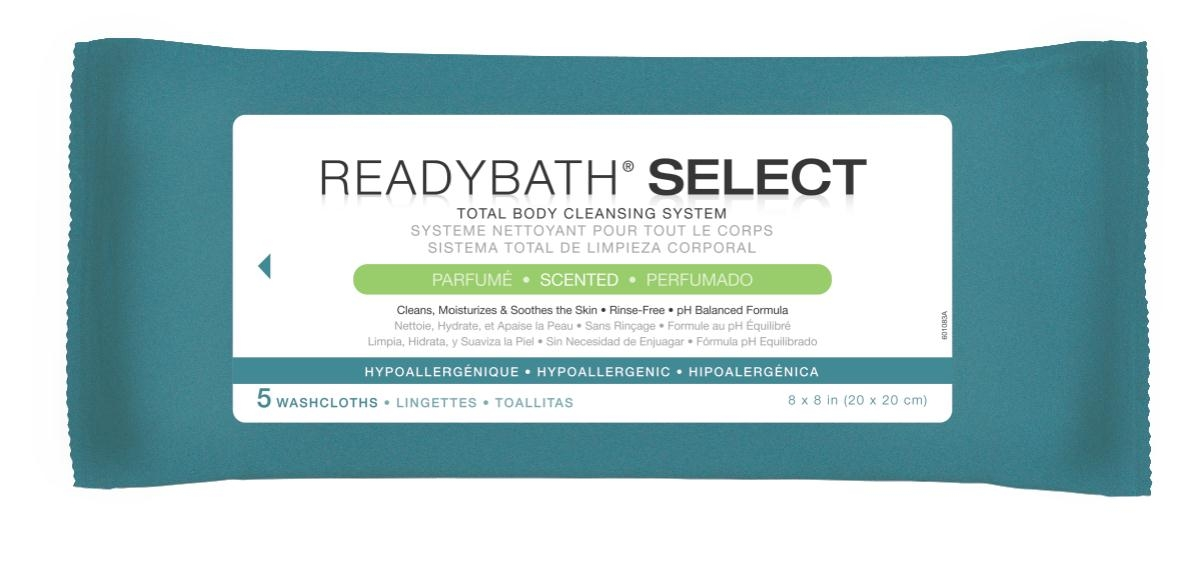 Nursing Supplies & Patient Care Skin Care Cleansers Wipes - Msc095108 - Readybath Select Scented 5/pk MSC095108