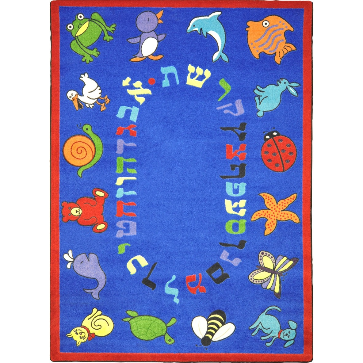 Learning: Play Early Childhood Carpets & Rugs Animals & Nature - 1566c-01 - Abc Animals (hebrew Alphabet) 1566C-01