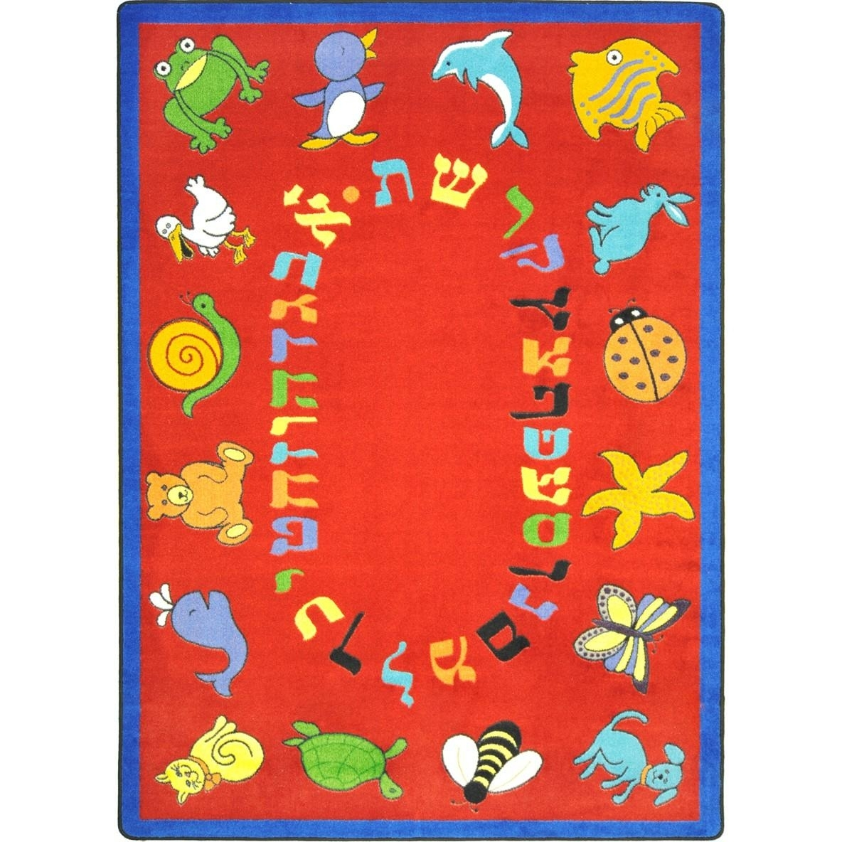 Learning: Play Early Childhood Carpets & Rugs Animals & Nature - 1566c-02 - Abc Animals (hebrew Alphabet) 1566C-02