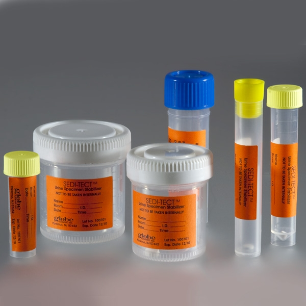 Urinalysis Products - 9005 - Seditect; Urine Stabilization Transport Tube; 10ml Centrifuge Conical Bottom With Plug Cap; Ps 9005