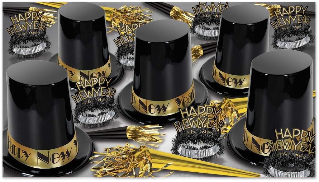 The Big Top Hat Gold Assorted For 50 - 1939234 - Learning: Play Christmas Party Celebration Party Christmas Costume 1939234