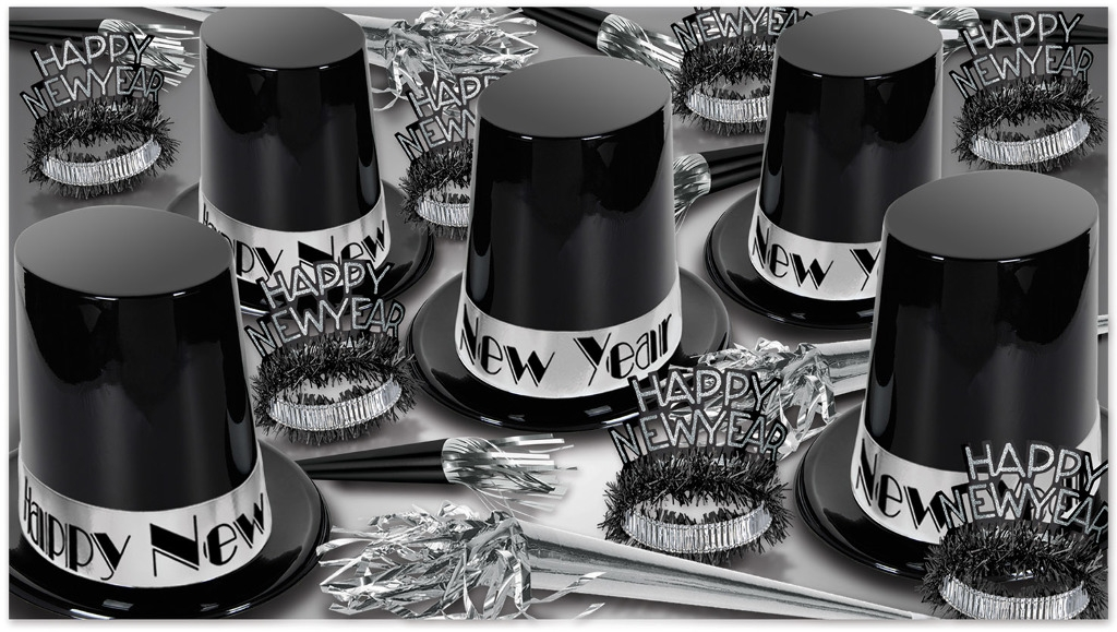 The Big Top Hat Silver Assorted For 50 - 1939235 - Learning: Play Christmas Party Celebration Multicolor Gold Silver Christmas Ornaments 1939235