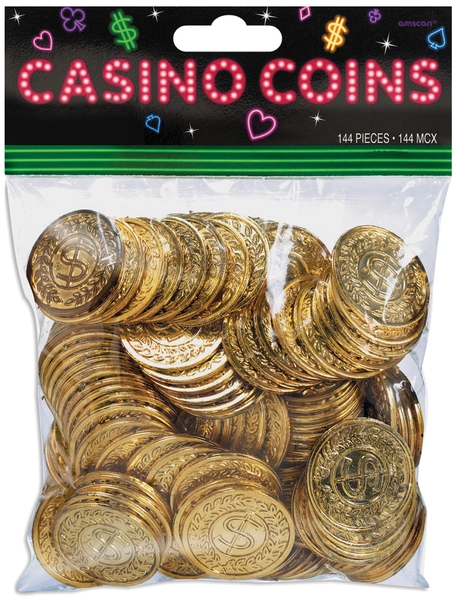 Casino Coins 144/pkg - 653423 - Learning: Play Christmas Party Celebration Party Christmas Decoration Santa Hats Novelty Tree Wreths 653423