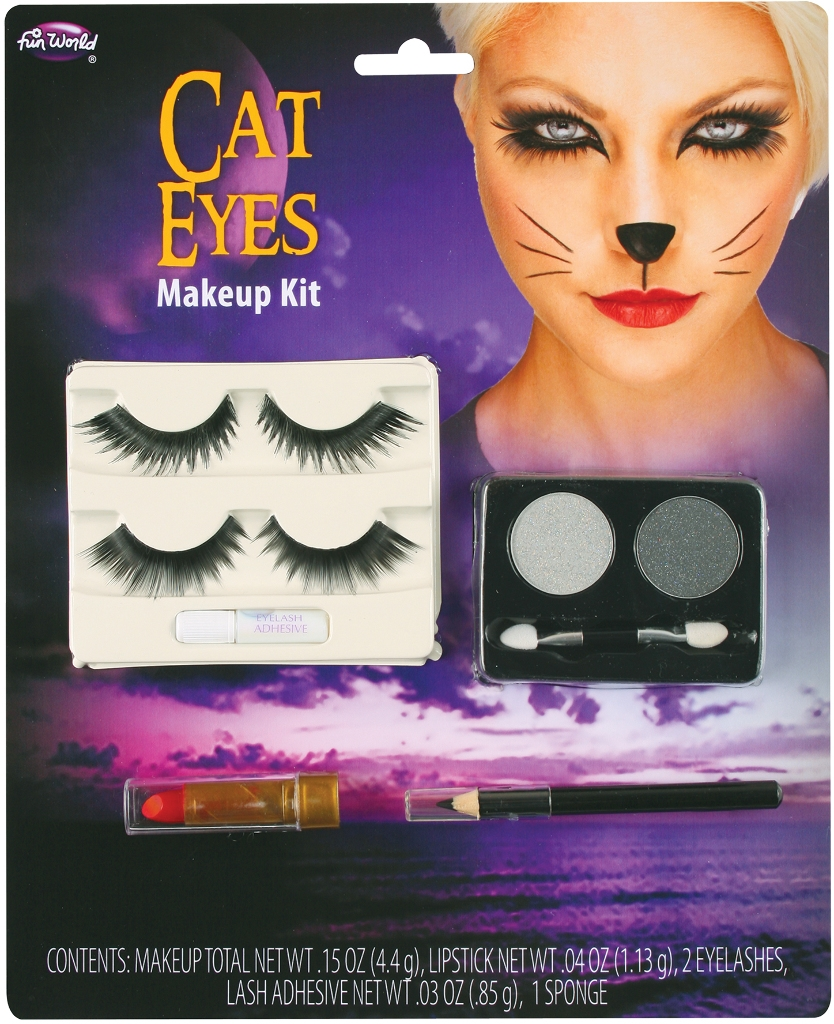 Learning: Play Hallween Party Hallween Costumes Party Hallween Costumes Devil Western Sailor Retro Women - 1998922 - Costume Accessory: Cat Eye Make-up Kit With Lashes 1998922