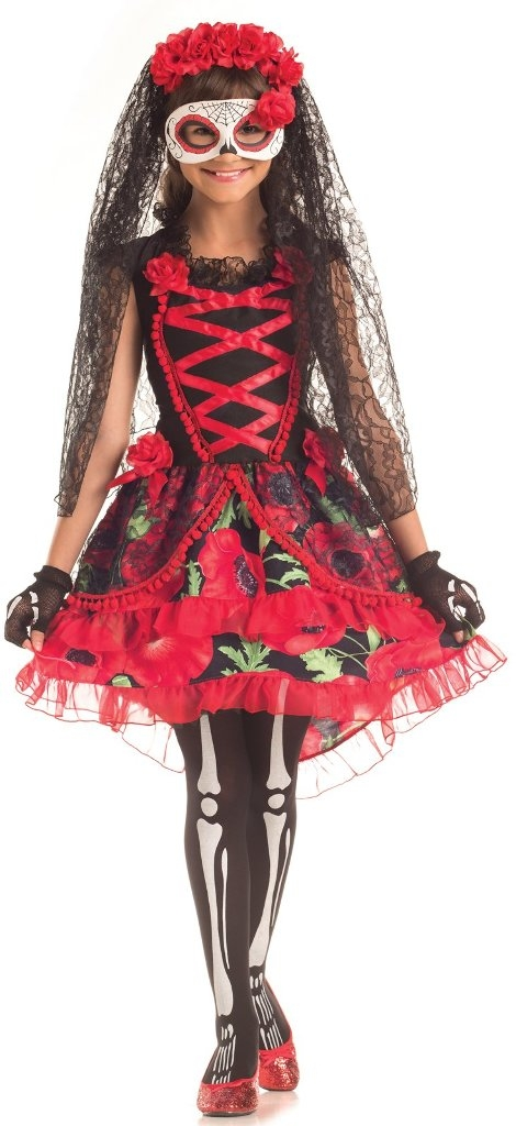 Learning: Play Hallween Party Hallween Costumes Party Hallween Costumes Devil Western Sailor Retro Women - 1919405 - Day Of The Dead Senorita Child Costume-medium (8-12) 1919405