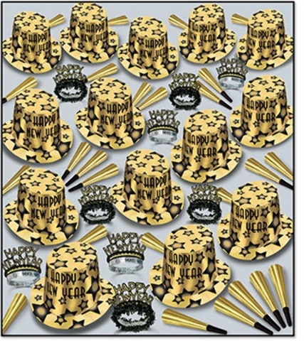 Gem-star Deluxe Gold New Year Kit For 100 - 1908316 - Learning: Play Hallween Party Hallween Cling Props Yard Decoration 1908316