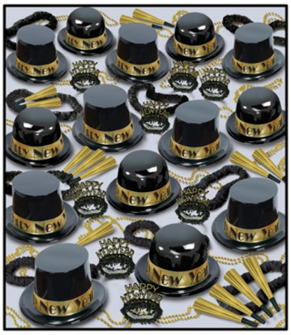 Showtime Gold New Year Kit For 100 - 1908286 - Learning: Play Hallween Party Hallween Cling Props Yard Decoration 1908286