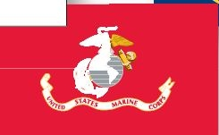 Facilities Marine Military Armed Forces Flags - 7942271 - Outdoor Flags Set Of 5 ; Marine Corps ; 12 X 18 Inch 7942271
