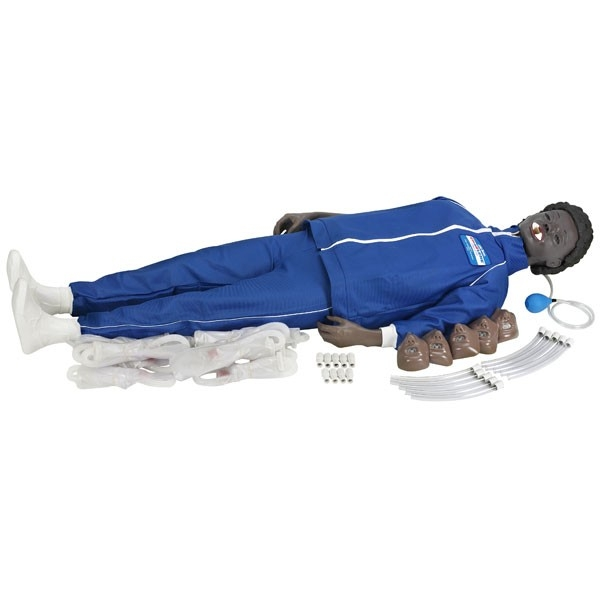 Learning: Science Life Science Models Kits Simulators & Trainers Adult Manikins - A-101632 - Full Body Adult Manikin With Electronic Connections (black) A-101632