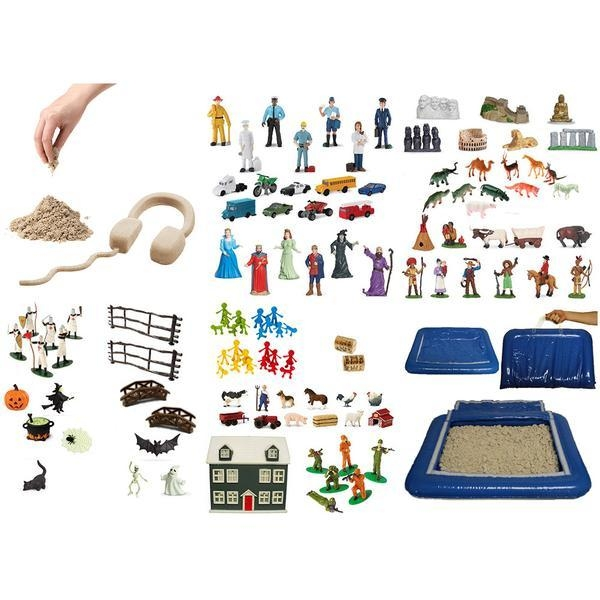Learning: Classroom Arts & Crafts Crafts Sand Art & Glitters - 995173100 - Sand Play Starter Set With Inflatable Tray And 5.5 Lb Kinetic Sand Bundle 995173100