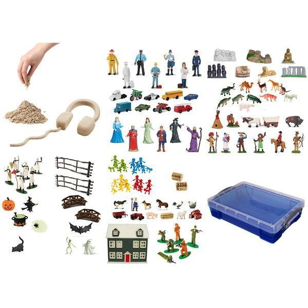Learning: Classroom Arts & Crafts Crafts Sand Art & Glitters - 997173100 - Sand Play Starter Set With Small Portable Tray And 5.5 Lb Kinetic Sand Bundle 997173100