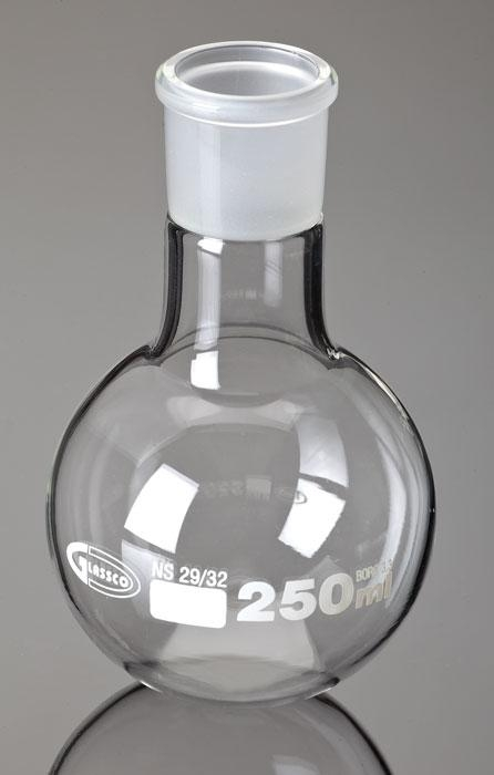 Boiling Flask; Round Bottom; Ground Glass Joints; Borosilicate - Frb057-250 - Laboratory Supplies Glassware FRB057-250