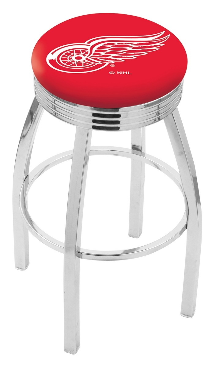Detroit Red Wings Bar Stool-l8c3c - L8c3c30detred - Chairs Table Nhl Stool L8C3C30DETRED
