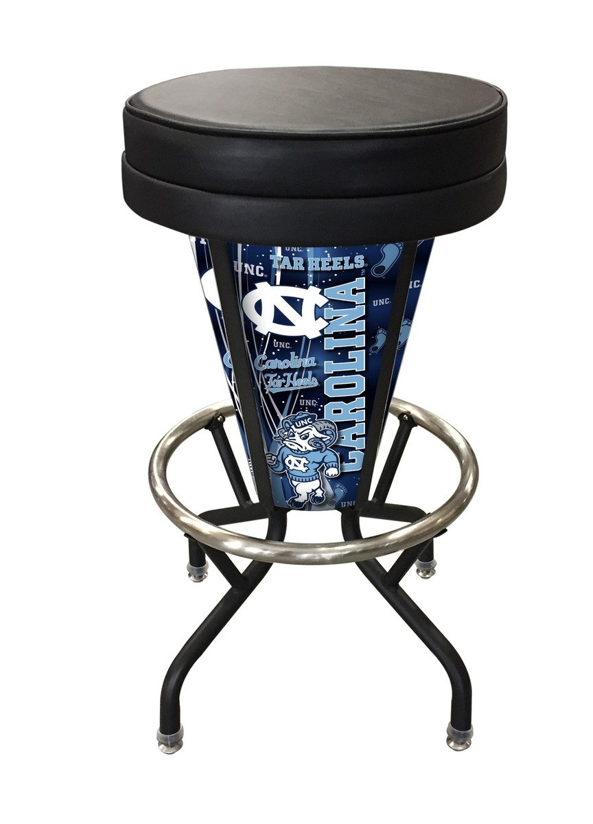 North Carolina Lighted Bar Stool-l5000 - L500030norcarblkvinyl - Chairs Table College Stool L500030NORCARBLKVINYL