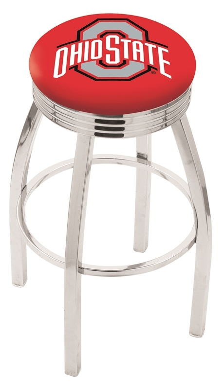 Ohio State Bar Stool-l8c3c - L8c3c25ohiost - Chairs Table College Stool L8C3C25OHIOST
