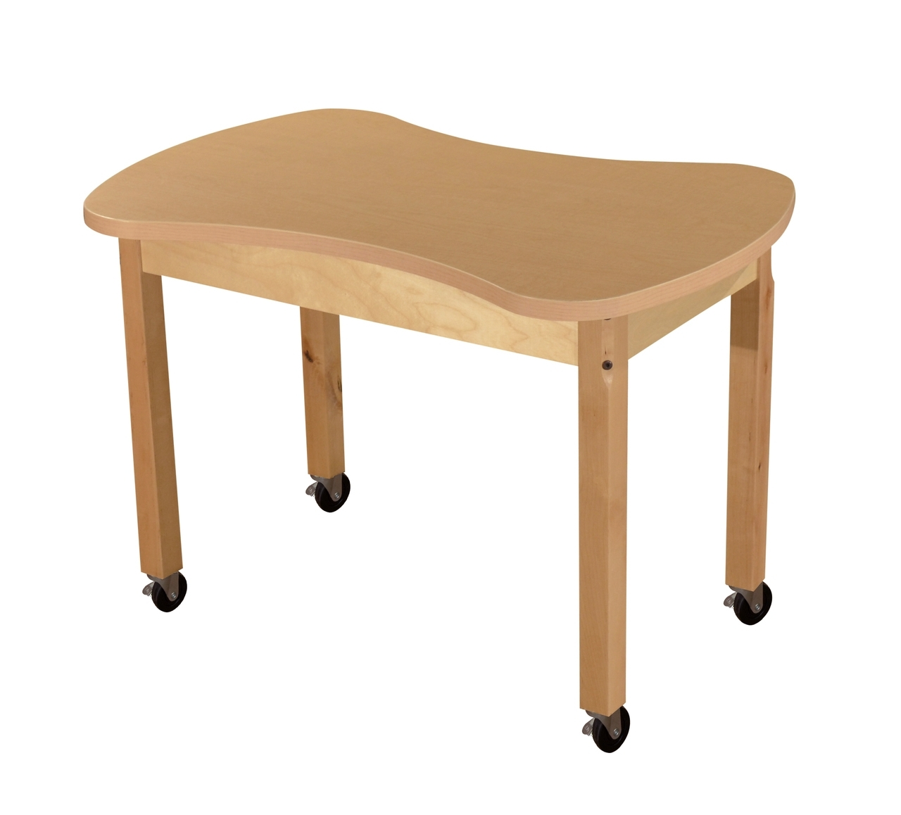 Mobile Synergy Junction 24 Inch X 36 High Pressure Laminate Table With Hardwood Legs- 14 - Hpl2436c14c6 - Collaboration Tables And Desks HPL2436C14C6