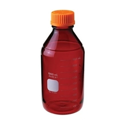 Chemglass Pyrex Media Bottle; 5;000ml; Low Actinic; Gl45 Cap - Cg-8090-5l - Bottles Containers Amber Glass CG-8090-5L