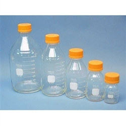 Chemglass Pyrex Media Bottle; 500ml; Gl45 Cap; Case/10 - Cg-8088-500 - Bottles Containers Amber Glass CG-8088-500