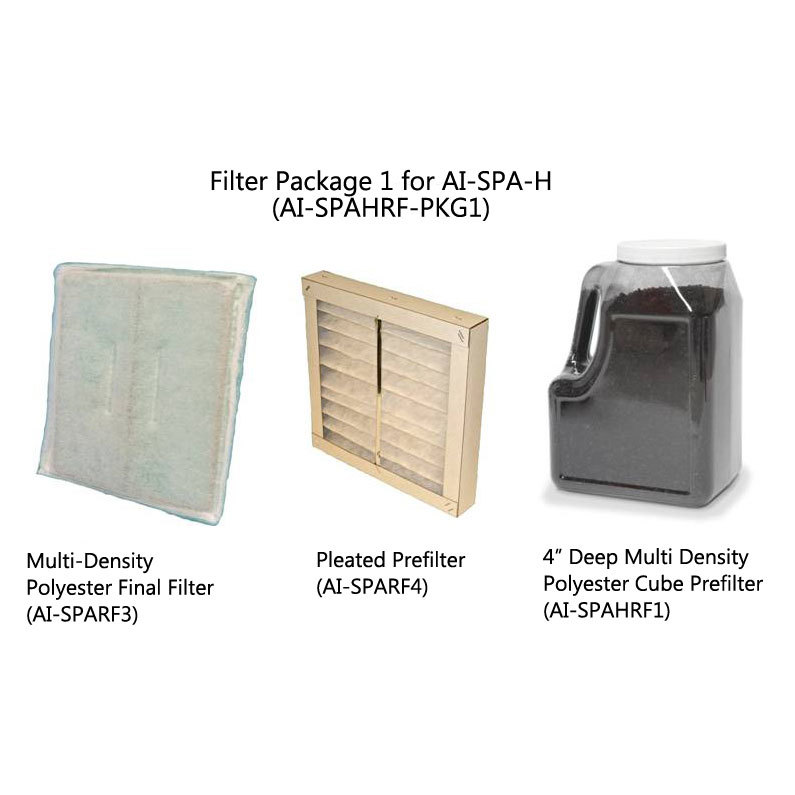 Filter Package For Use With Hair System Ai-spa-h - Ai-spahrf-pkg1 - Equipment Removal Fume Extractors AI-SPAHRF-PKG1